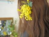 髪の花飾り